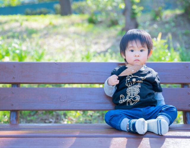 近所の公園で子供写真の出張撮影!
