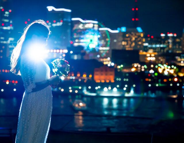 おしゃれにフォトウェディング!横浜の街並みをバックに夜景撮影をして来ました!
